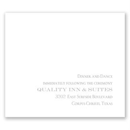 Simply Refined - Pocket Reception Card