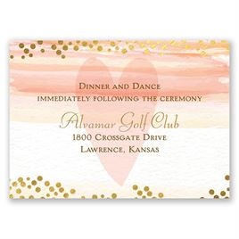 Watercolor Love - Reception Card