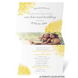 Floral Glimpse - Invitation