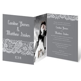 photo wedding invitations fetching lace invitation - Picture Wedding Invitations