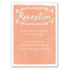 Cordially Invited - Reception Card