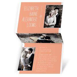 Peach Wedding Invitations: 