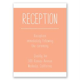 Photo Sensation - Reception Card