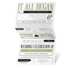 Green Wedding Invitations: Trendy Details Invitation