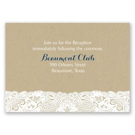 Lace Frame - Reception Card