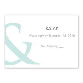Wedding Response Cards: Contemporary Couple Response Card
