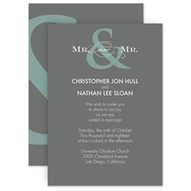 Invitations by Dawn offers exceptional stationery with a custom look for a fabulous price. Find a stylish selection of same-sex wedding invitations right here a