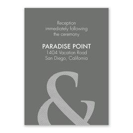 Contemporary Couple - Reception Card