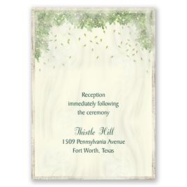 Monogram Wreath - Reception Card