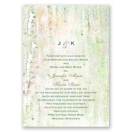 Watercolor Birch Trees - Invitation
