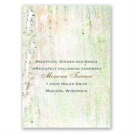 Watercolor Birch Trees - Reception Card
