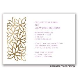 Contemporary Floral - Gold - Foil Invitation