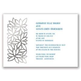 Contemporary Floral - Silver - Foil Invitation