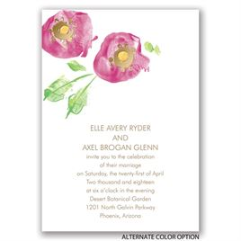 Pretty Poppies - Gold - Foil Invitation