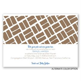 Sacred Path - Mitzvah Invitation