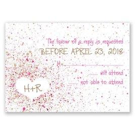 Splatter Paint - Fuchsia - Response Card