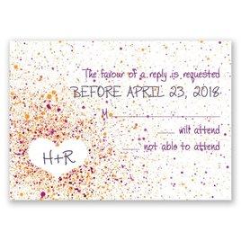 Splatter Paint - Grapevine - Response Card