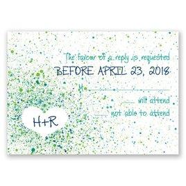 Splatter Paint - Emerald - Response Card