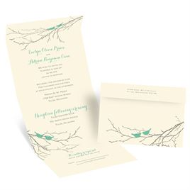 Invitations by Dawn offers a large variety of wedding invitations featuring bird-inspired designs