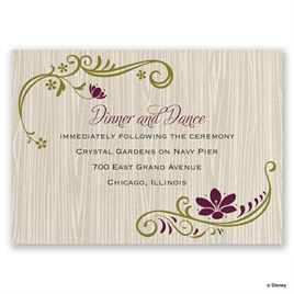 Disney - Natural Beauty Reception Card - Anna