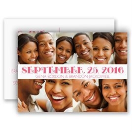 All Smiles - Save the Date Postcard