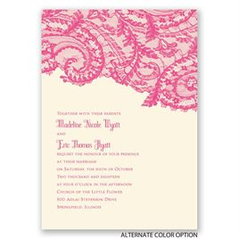 Ornate Lace - Ecru - Invitation