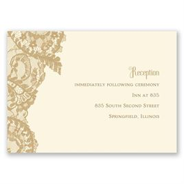 Ornate Lace - Ecru - Reception Card