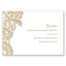Ornate Lace - Reception Card