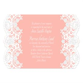 Lace Embrace - White - Laser Cut Invitation