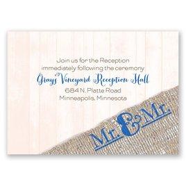 Burlap Band - Mr. & Mr. - Reception Card