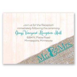 Burlap Band - Mr. & Mrs. - Reception Card