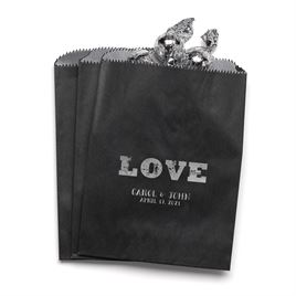 Rustic Love - Black - Favor Bags