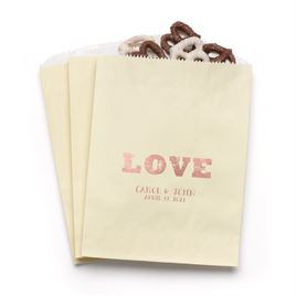 Rustic Love - Ecru - Favor Bags