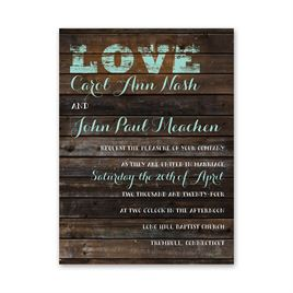 rustic wedding invitations on board petite invitation - Country Rustic Wedding Invitations