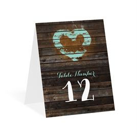 Table Number Cards: 