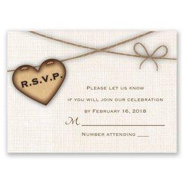 Rustic Hearts - Response Card