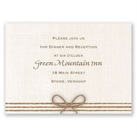 Rustic Hearts - Reception Card