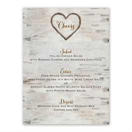 Love for Infinity - Menu Card