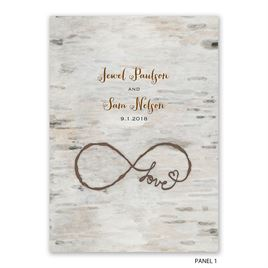 Love for Infinity - Z-Fold Invitation