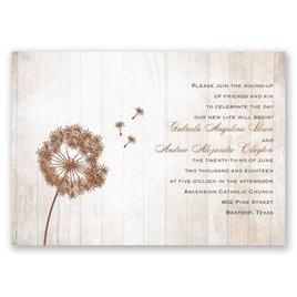 Dandelion Shimmer - Real Glitter Invitation