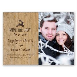 Save The Dates: Reindeer Prance Holiday Card Save The Date