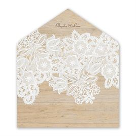 Wood and Lace - Envelope Liner