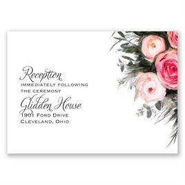 Ethereal Garden - Reception Card