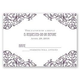 Henna Monogram - Response Card