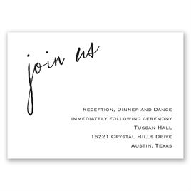 Just Write - Reception Card