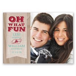 Rustic Fun - Holiday Postcard Save the Date