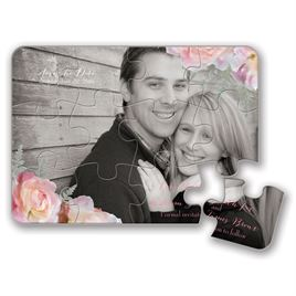 Save The Date Puzzles: Pink Roses Save the Date Puzzle