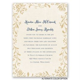 Flowers and Linen - Petite Invitation