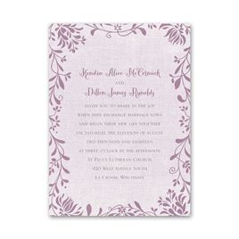 Flowers and Linen - Petite Invitation