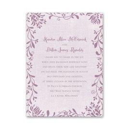 Petite Wedding Invitations: Flowers and Linen Petite Invitation